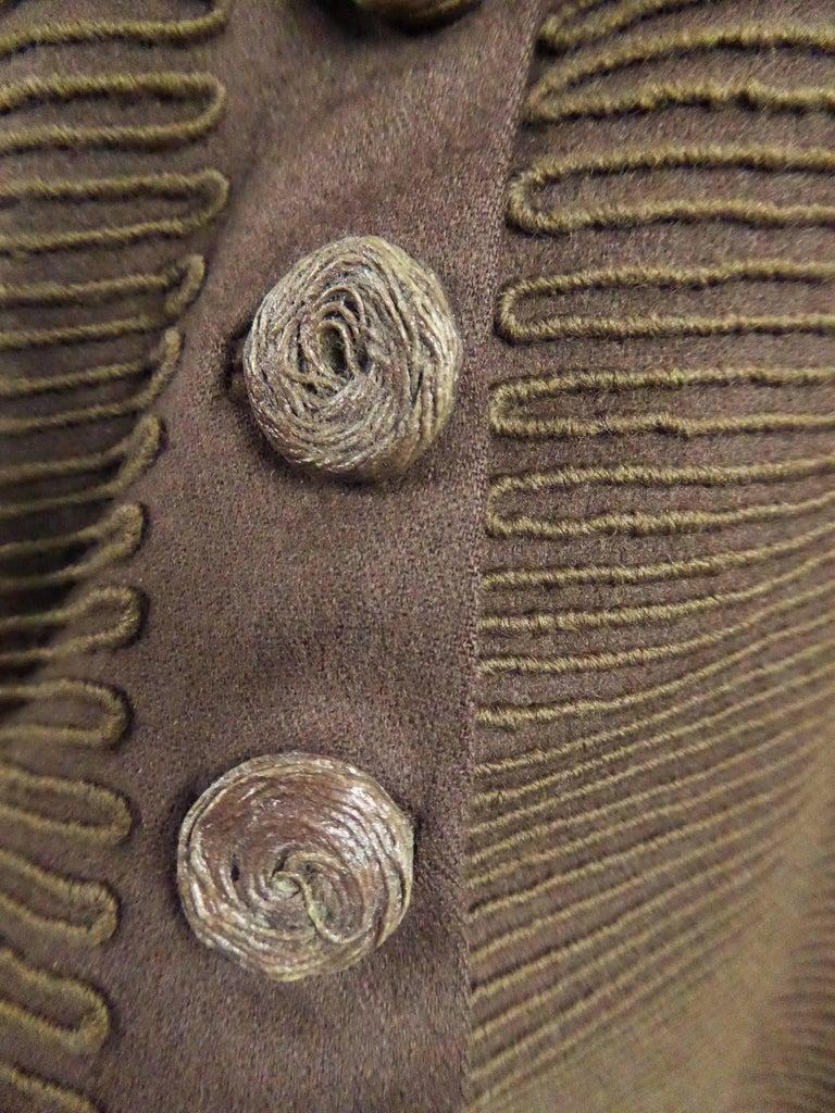 Carven Haute Couture Coat Dress, Circa 1944 / 1947 For Sale 4