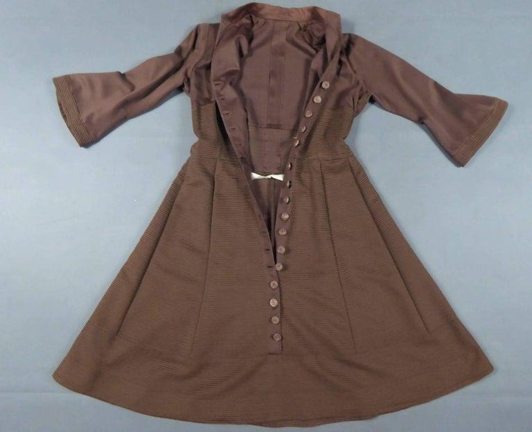 Carven Haute Couture Coat Dress, Circa 1944 / 1947 For Sale 5