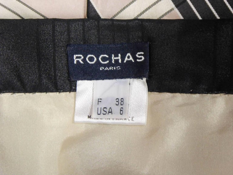 Rochas silk skirt - Circa 2000 In Excellent Condition For Sale In Toulon, FR