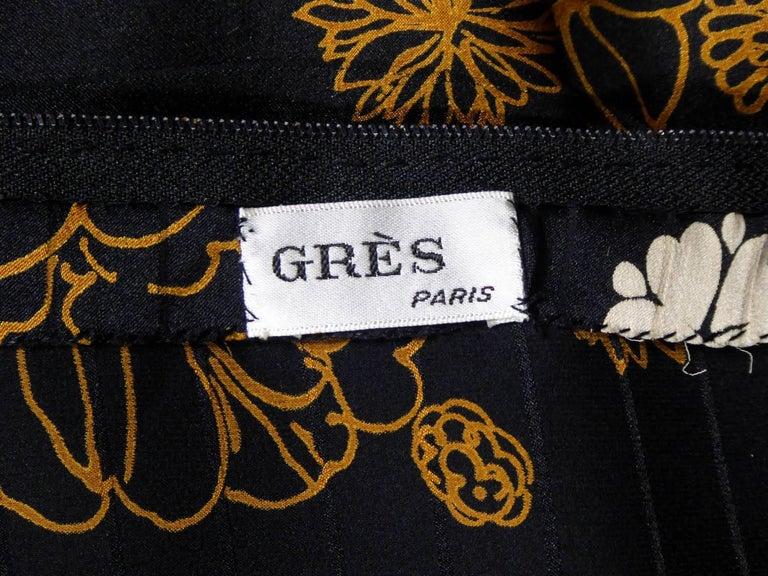 Black Madame Grès Haute Couture Dress, circa 1980 For Sale