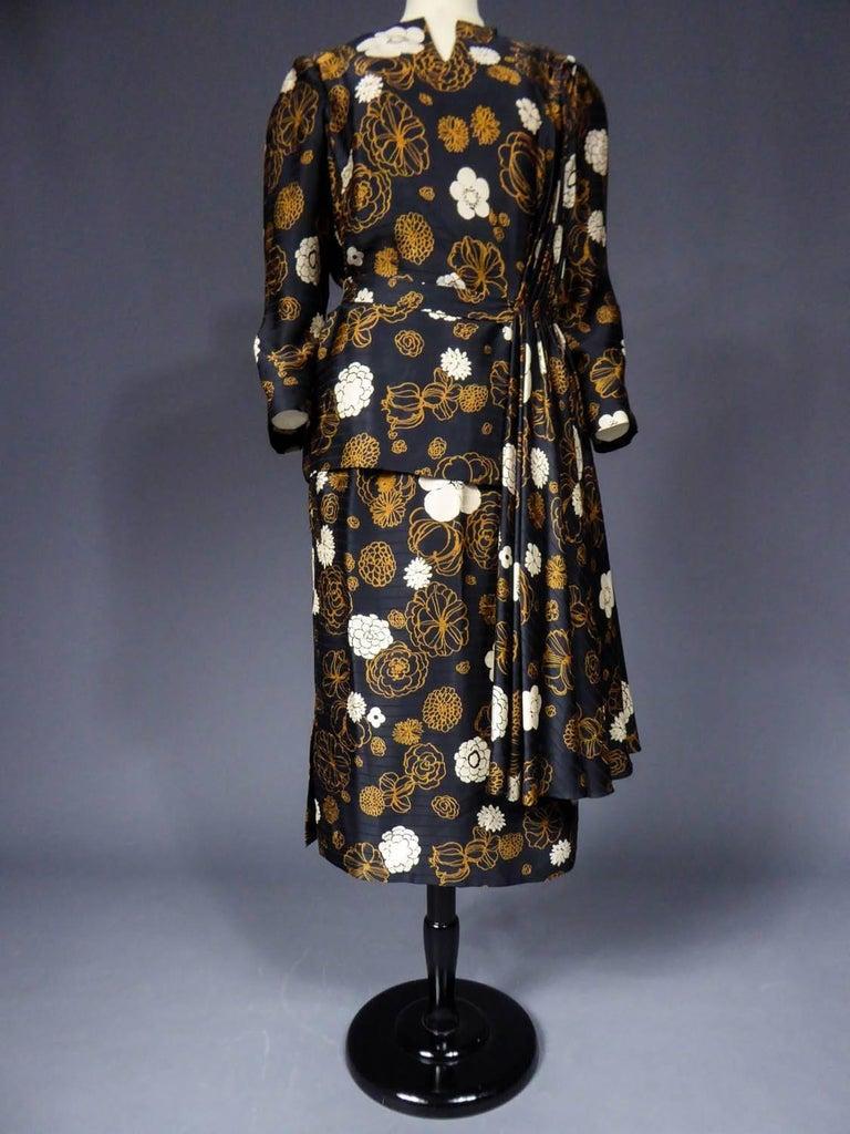 Women's Madame Grès Haute Couture Dress, circa 1980 For Sale