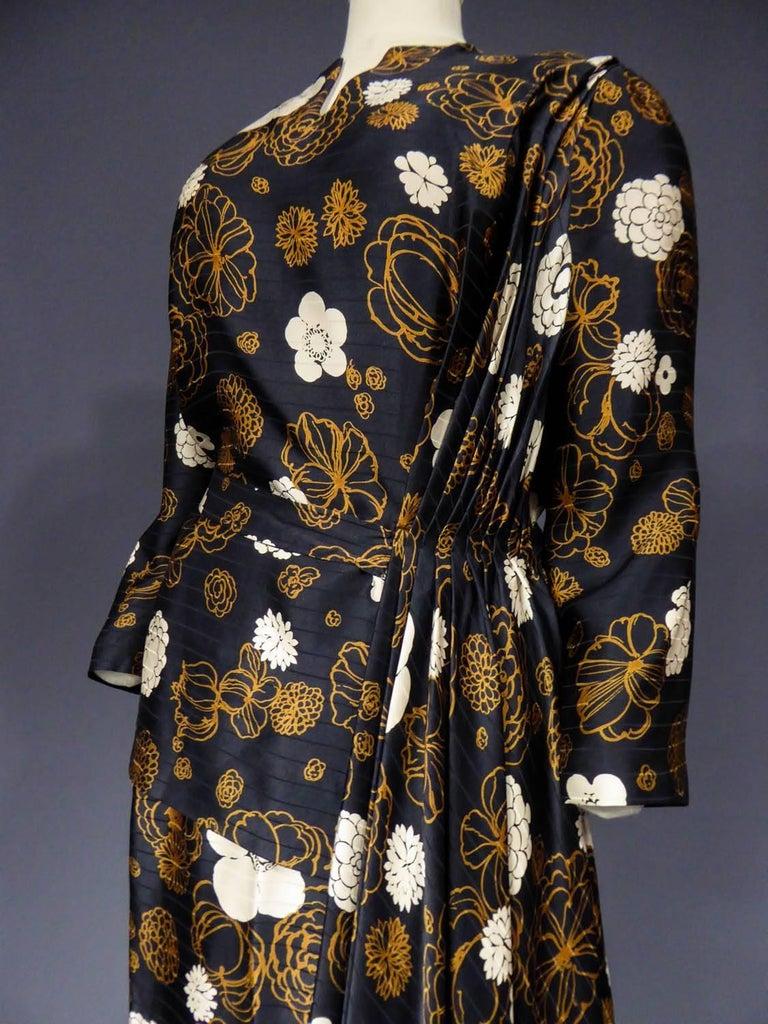 Madame Grès Haute Couture Dress, circa 1980 For Sale 3