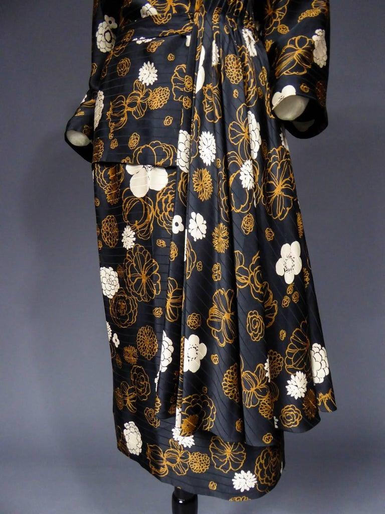Madame Grès Haute Couture Dress, circa 1980 For Sale 4