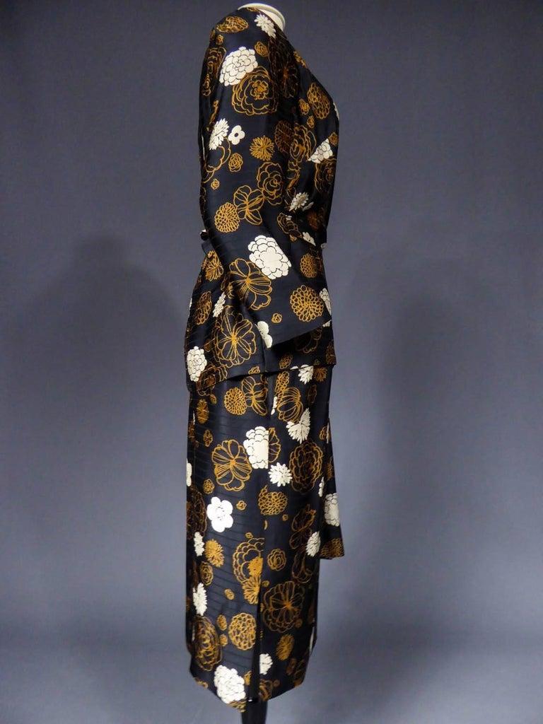 Madame Grès Haute Couture Dress, circa 1980 For Sale 5