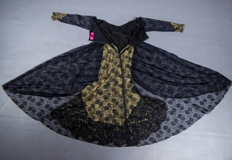 Black Christian Lacroix Couture evening gown, circa 1990 For Sale