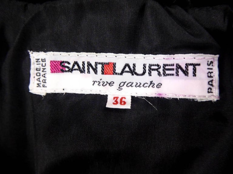 Black Yves Saint Laurent Rive gauche jewelery tuxedo set - Circa 1980 For Sale