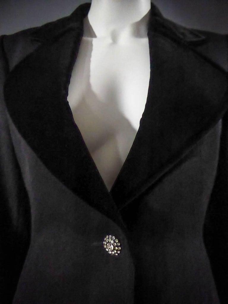 Women's Yves Saint Laurent Rive gauche jewelery tuxedo set - Circa 1980 For Sale