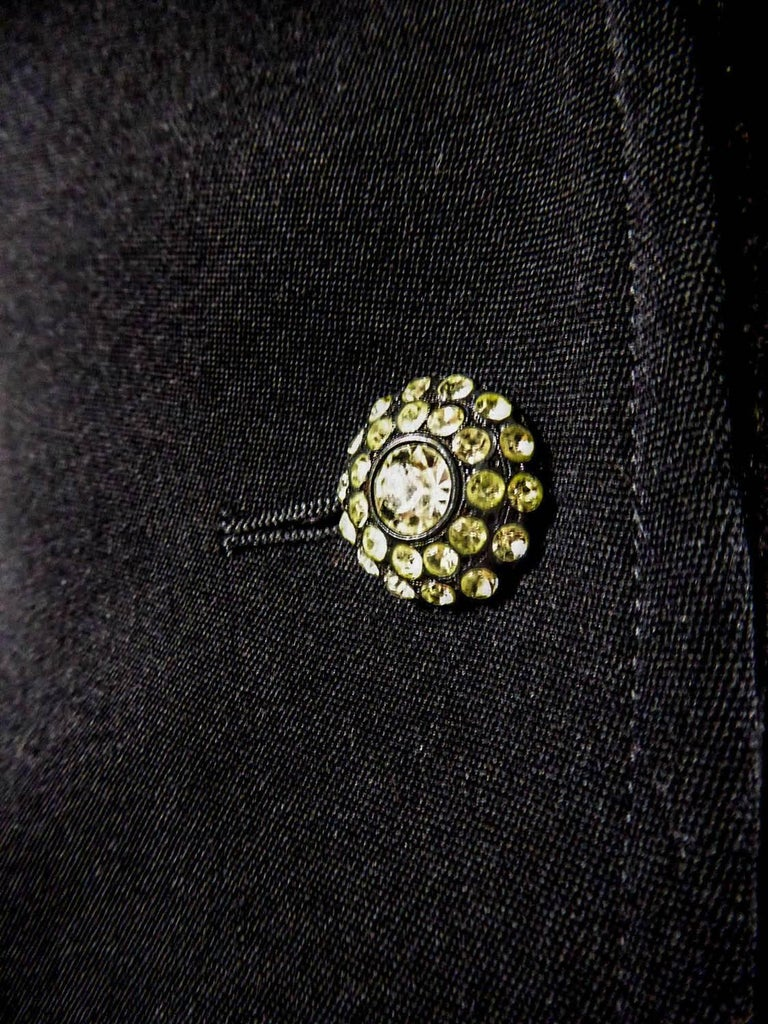 Yves Saint Laurent Rive gauche jewelery tuxedo set - Circa 1980 For Sale 3