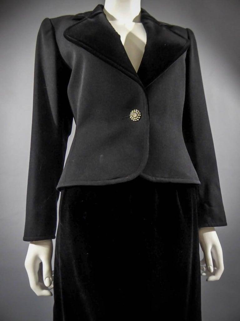 Yves Saint Laurent Rive gauche jewelery tuxedo set - Circa 1980 For Sale 4