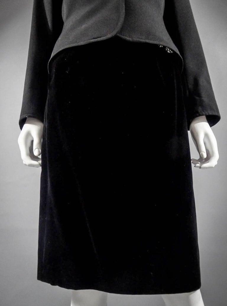 Yves Saint Laurent Rive gauche jewelery tuxedo set - Circa 1980 For Sale 5