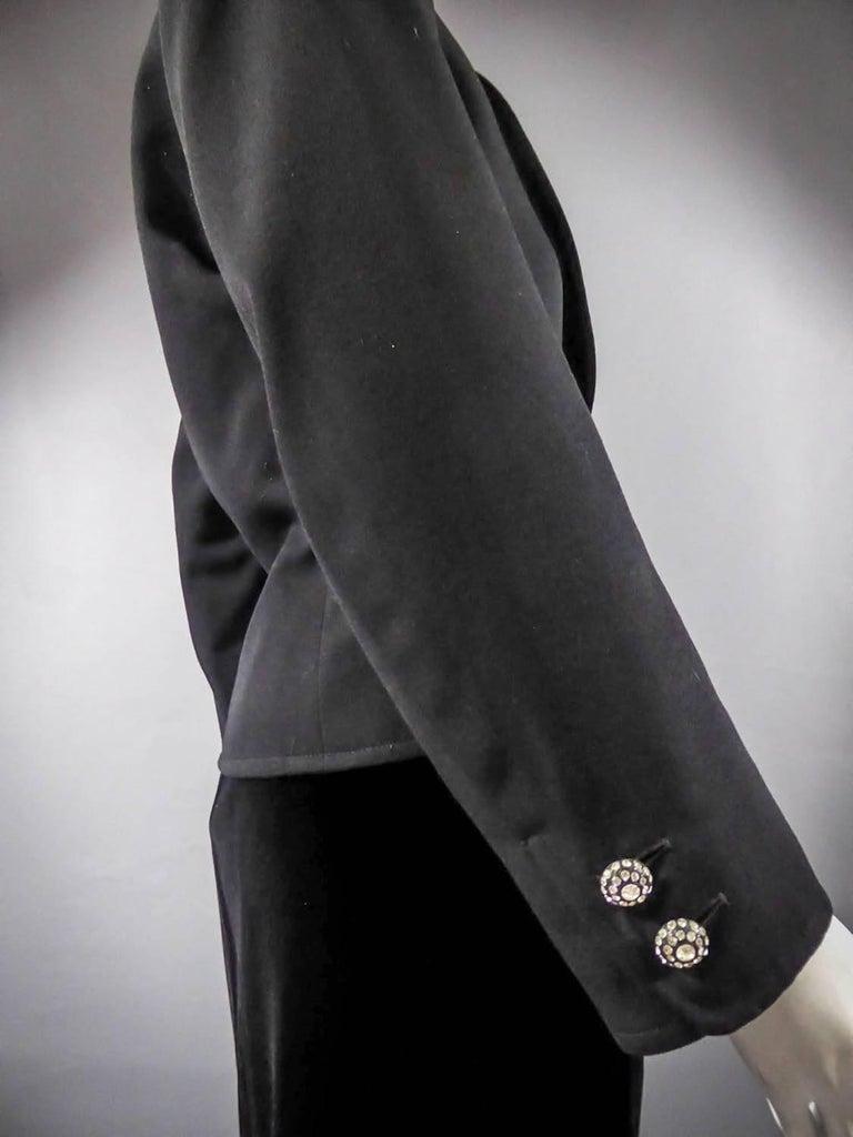 Yves Saint Laurent Rive gauche jewelery tuxedo set - Circa 1980 For Sale 6