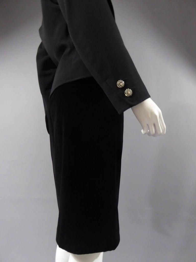 Yves Saint Laurent Rive gauche jewelery tuxedo set - Circa 1980 For Sale 7