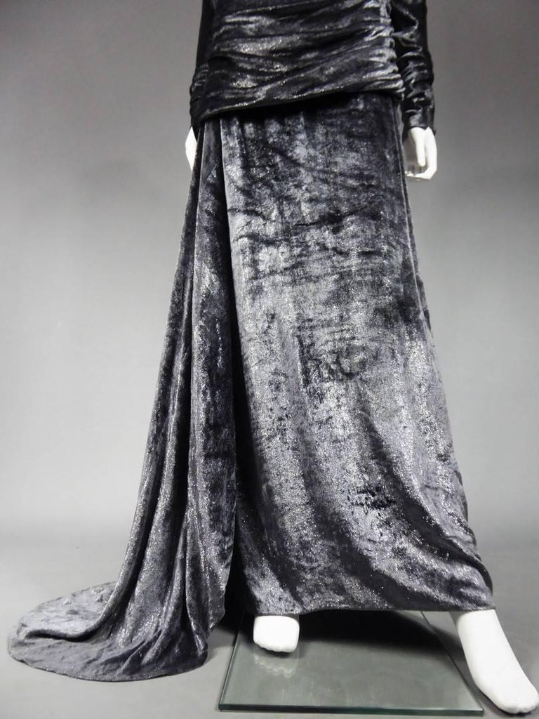 Yves Saint Laurent Couture Evening Dress, Fall 1971 In Excellent Condition For Sale In Toulon, FR