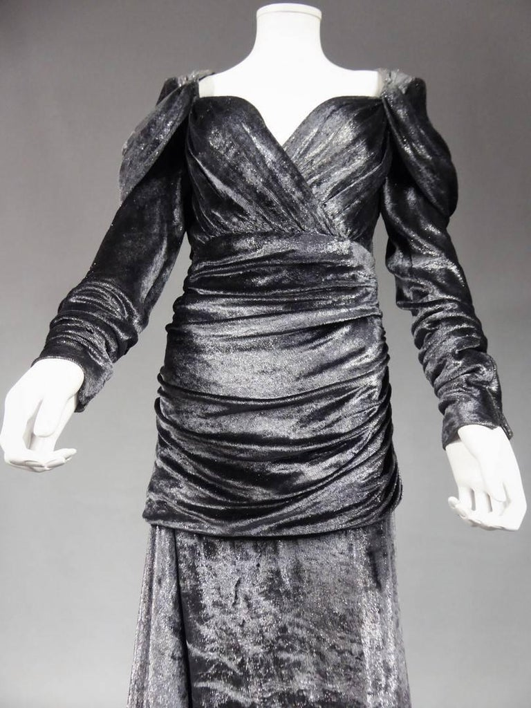 Women's Yves Saint Laurent Couture Evening Dress, Fall 1971 For Sale