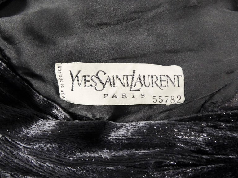 Yves Saint Laurent Couture Evening Dress, Fall 1971 For Sale 10