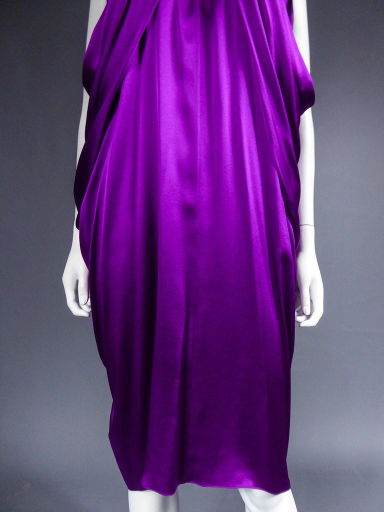 Purple Yves Saint Laurent Dress by Stefano Pilati, 2008 Collection  For Sale