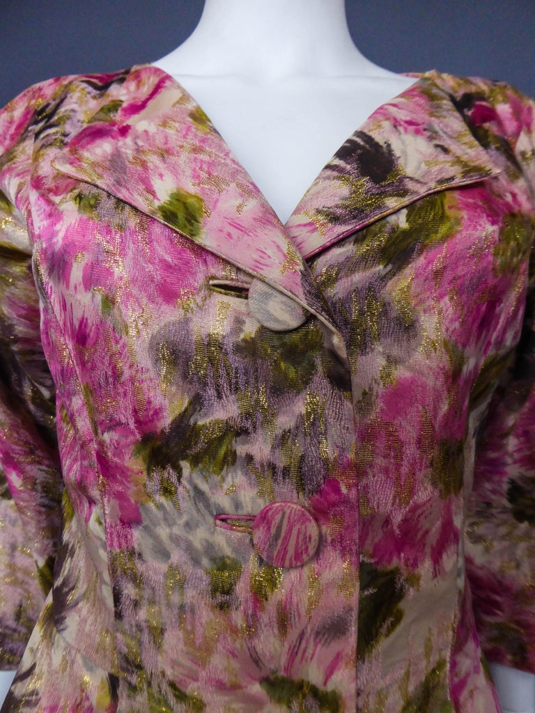 Brown Elizabeth Arden Gold Evening Dress, Circa 1940 For Sale