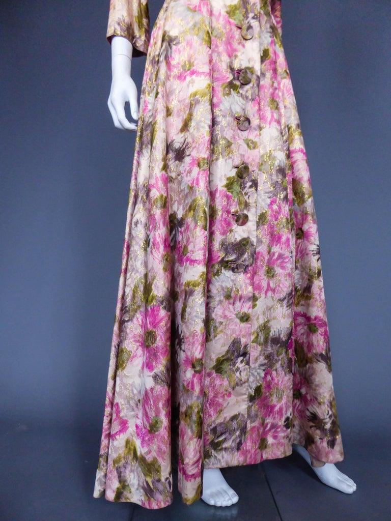 Women's Elizabeth Arden Gold Evening Dress, Circa 1940 For Sale