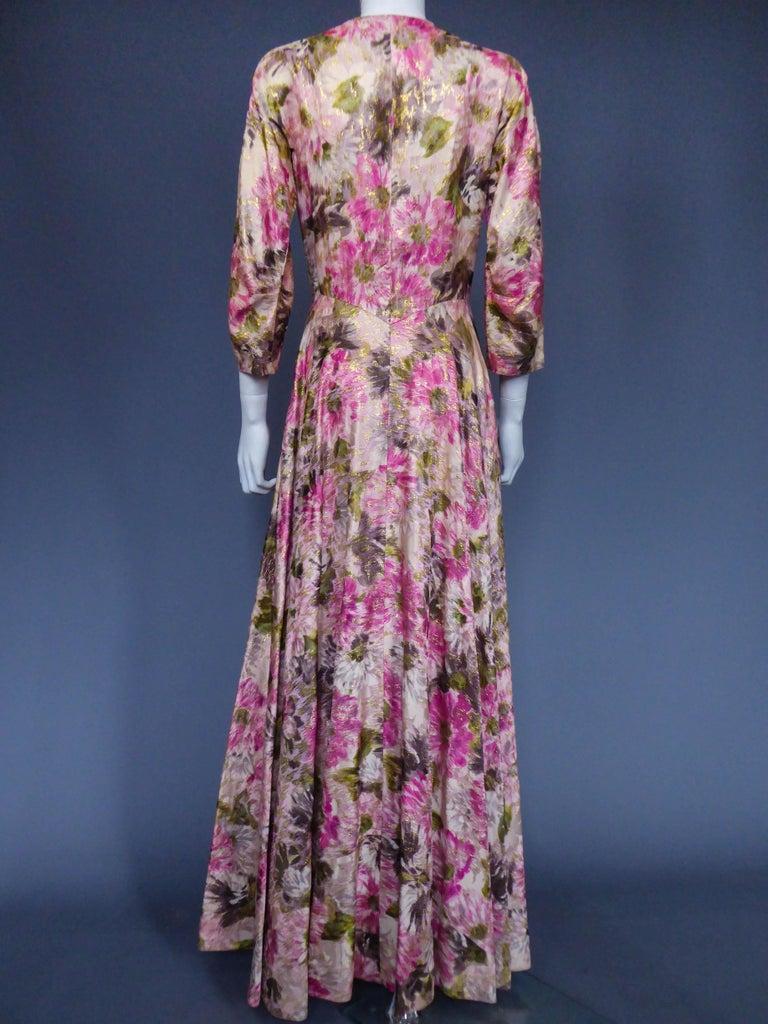 Elizabeth Arden Gold Evening Dress, Circa 1940 For Sale 1
