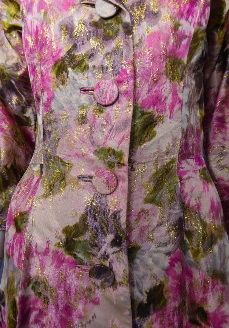 Elizabeth Arden Gold Evening Dress, Circa 1940 For Sale 4