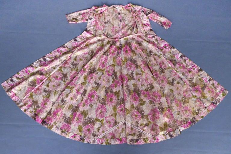 Elizabeth Arden Gold Evening Dress, Circa 1940 For Sale 5