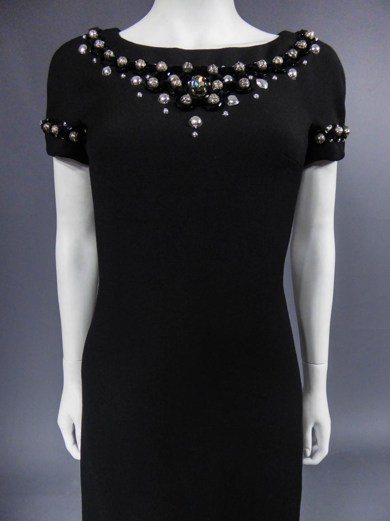 Dolce & Gabbana Little Jewelry Black Dress, circa 2005  In Excellent Condition For Sale In Toulon, FR