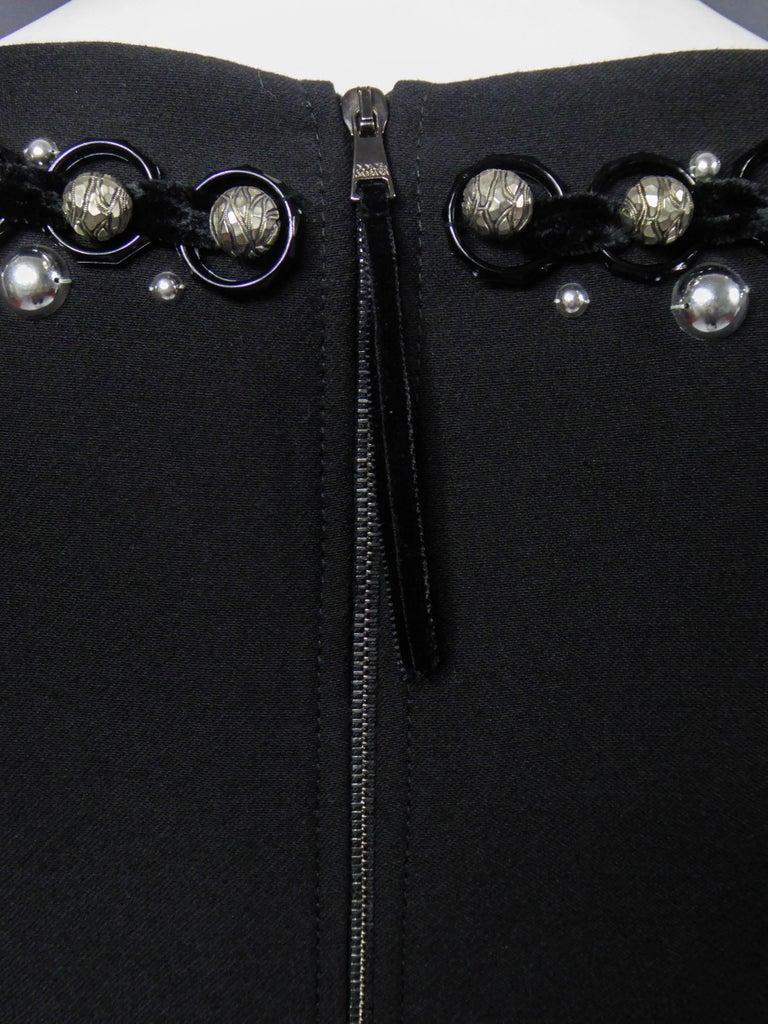 Dolce & Gabbana Little Jewelry Black Dress, circa 2005  For Sale 6