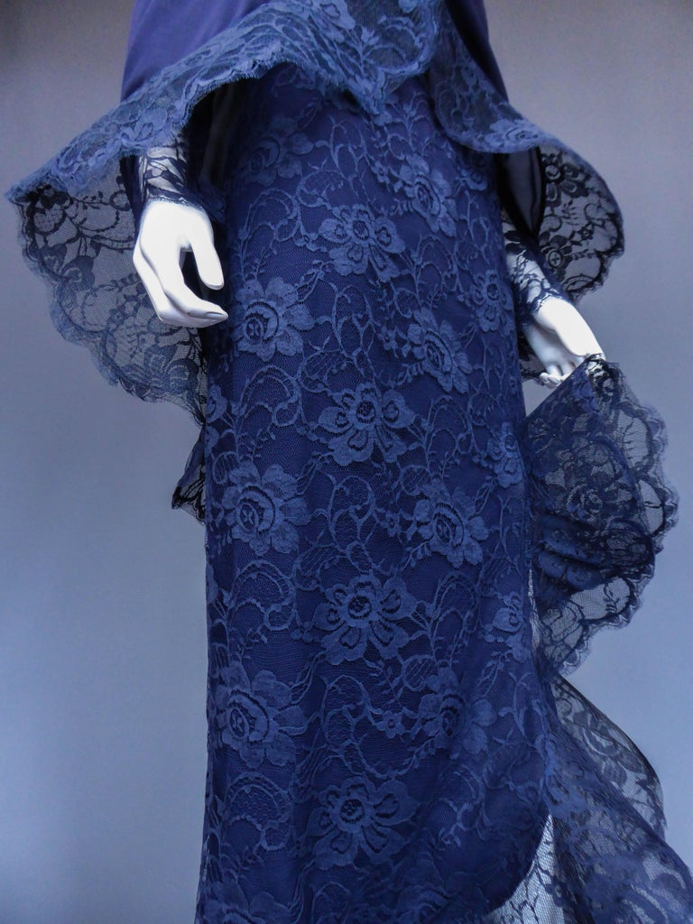 Evening dress and cape attributed to Pierre Cardin Couture, Circa 1985 For Sale 1