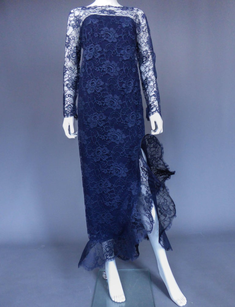 Evening dress and cape attributed to Pierre Cardin Couture, Circa 1985 For Sale 2