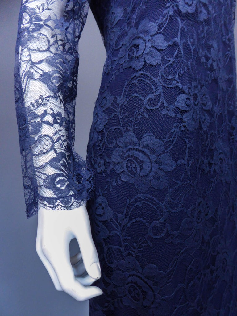 Evening dress and cape attributed to Pierre Cardin Couture, Circa 1985 For Sale 4