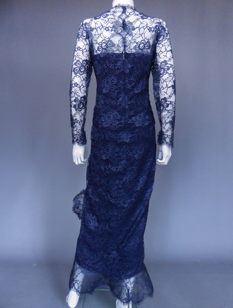 Evening dress and cape attributed to Pierre Cardin Couture, Circa 1985 For Sale 7