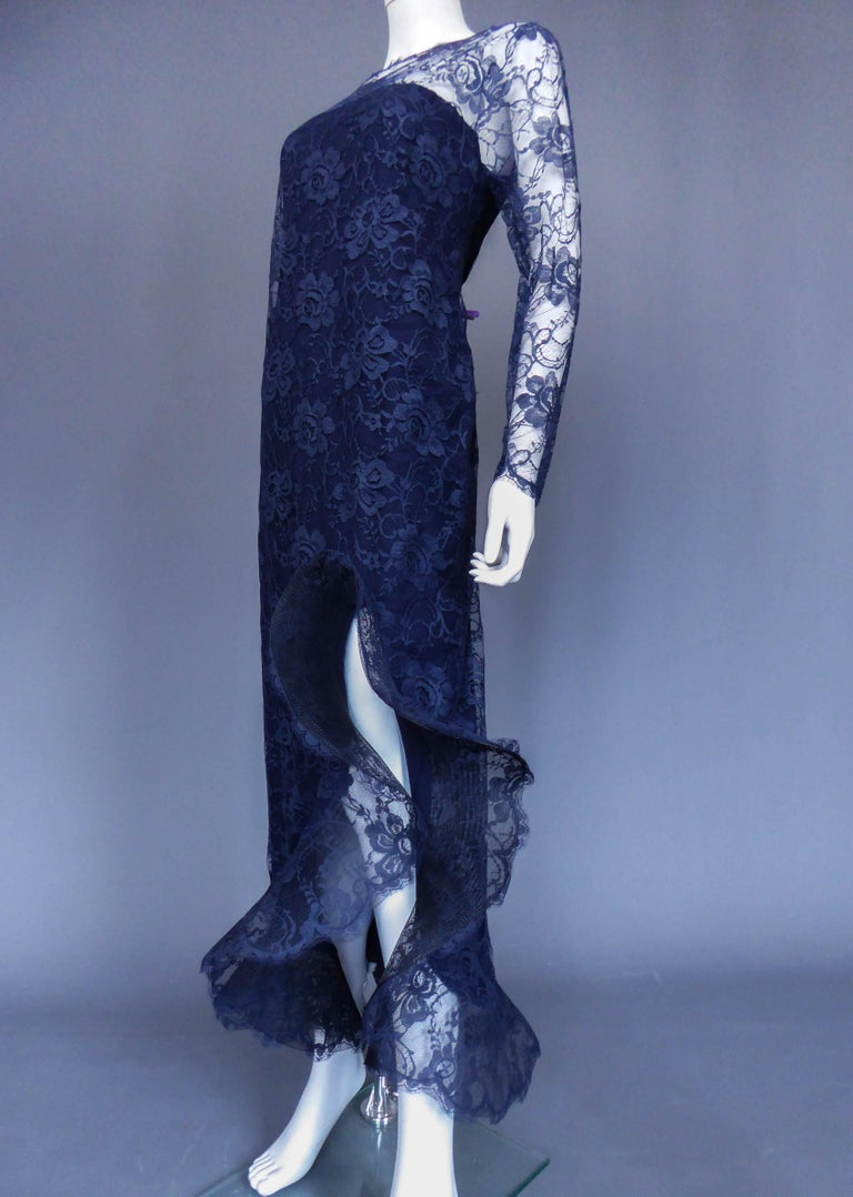 Evening dress and cape attributed to Pierre Cardin Couture, Circa 1985 For Sale 9