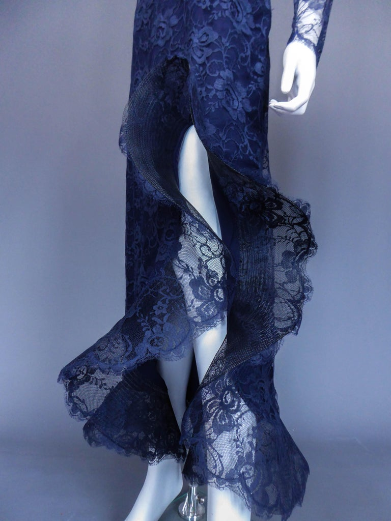 Evening dress and cape attributed to Pierre Cardin Couture, Circa 1985 For Sale 10