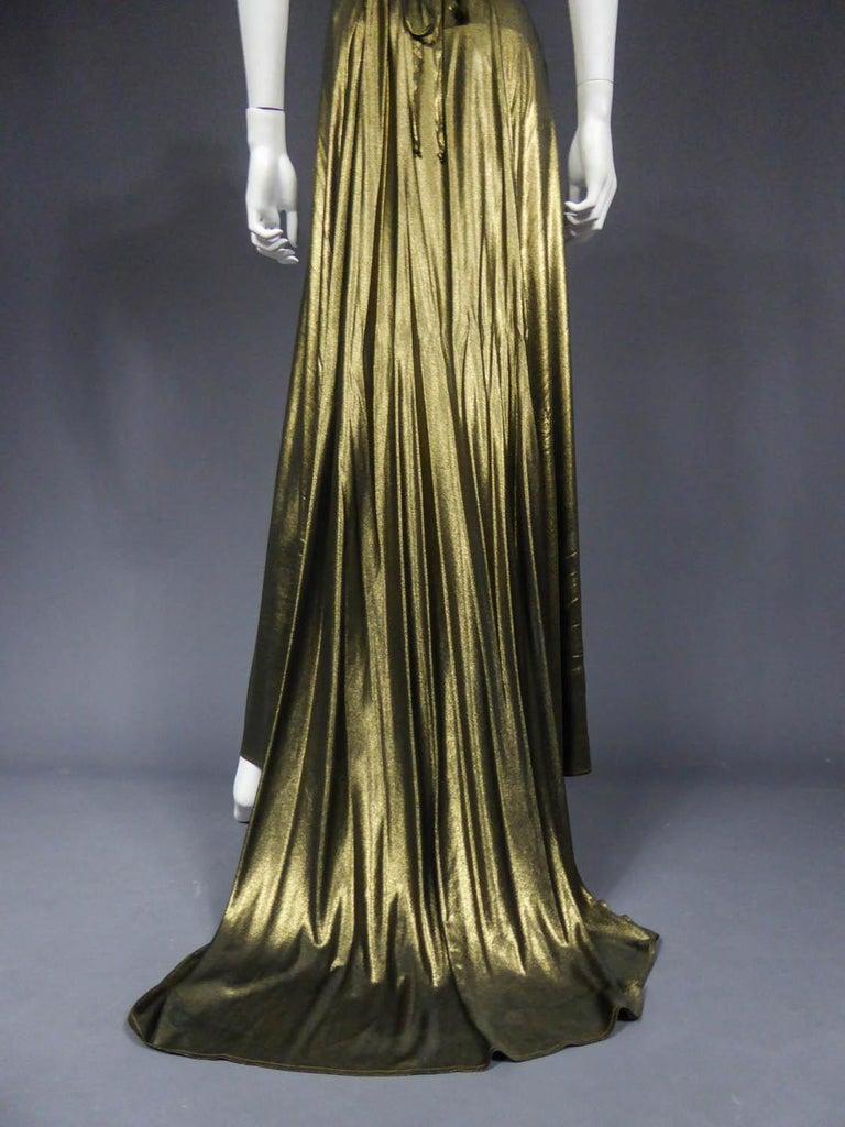 Black Christian Lacroix Haute Couture Golden Evening Gown, Circa 1995 For Sale