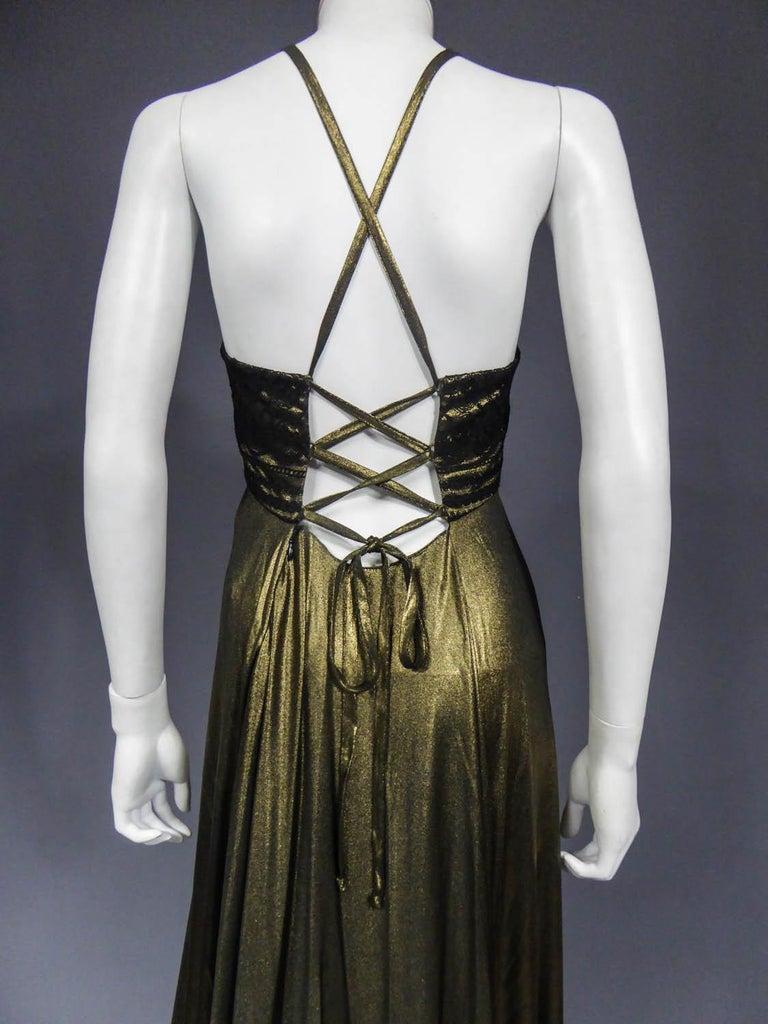 Christian Lacroix Haute Couture Golden Evening Gown, Circa 1995 For Sale 1