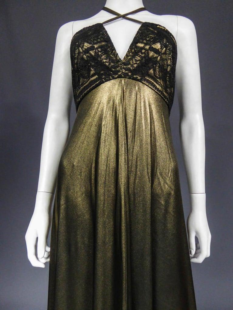 Christian Lacroix Haute Couture Golden Evening Gown, Circa 1995 For Sale 2