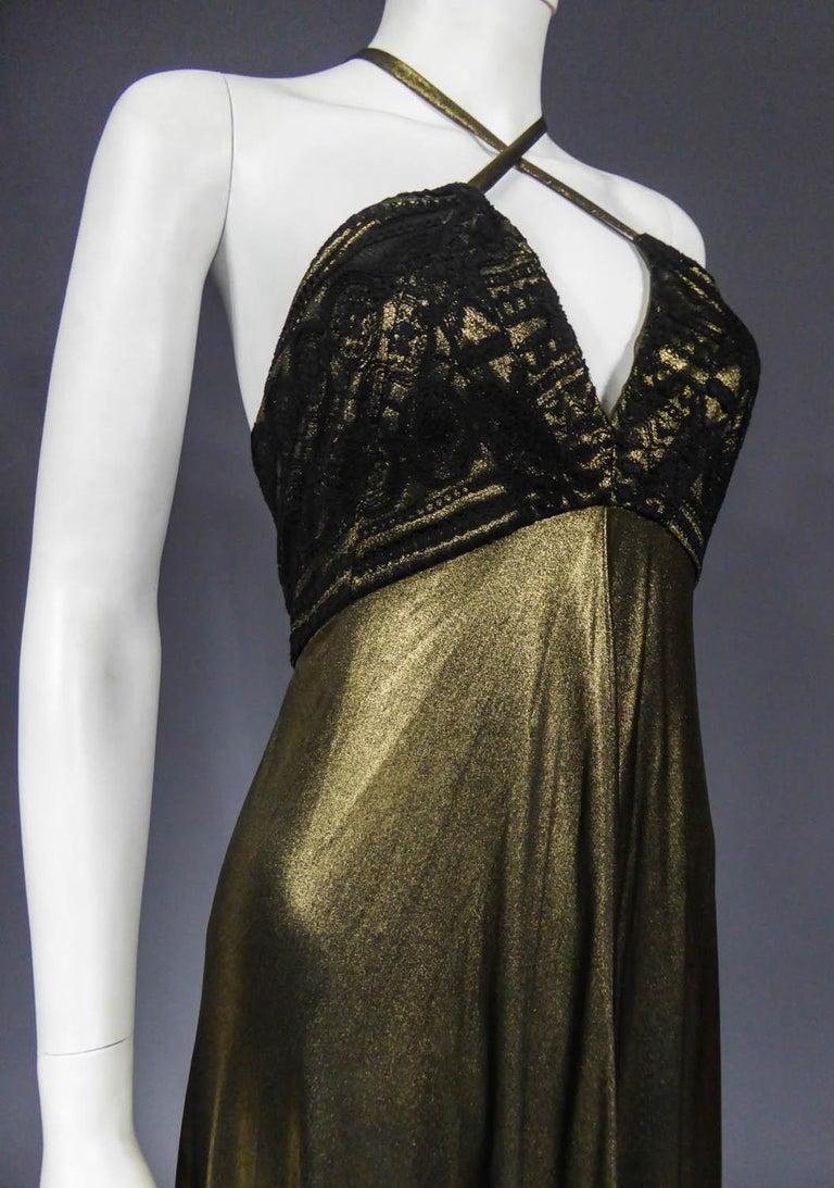Christian Lacroix Haute Couture Golden Evening Gown, Circa 1995 For Sale 5