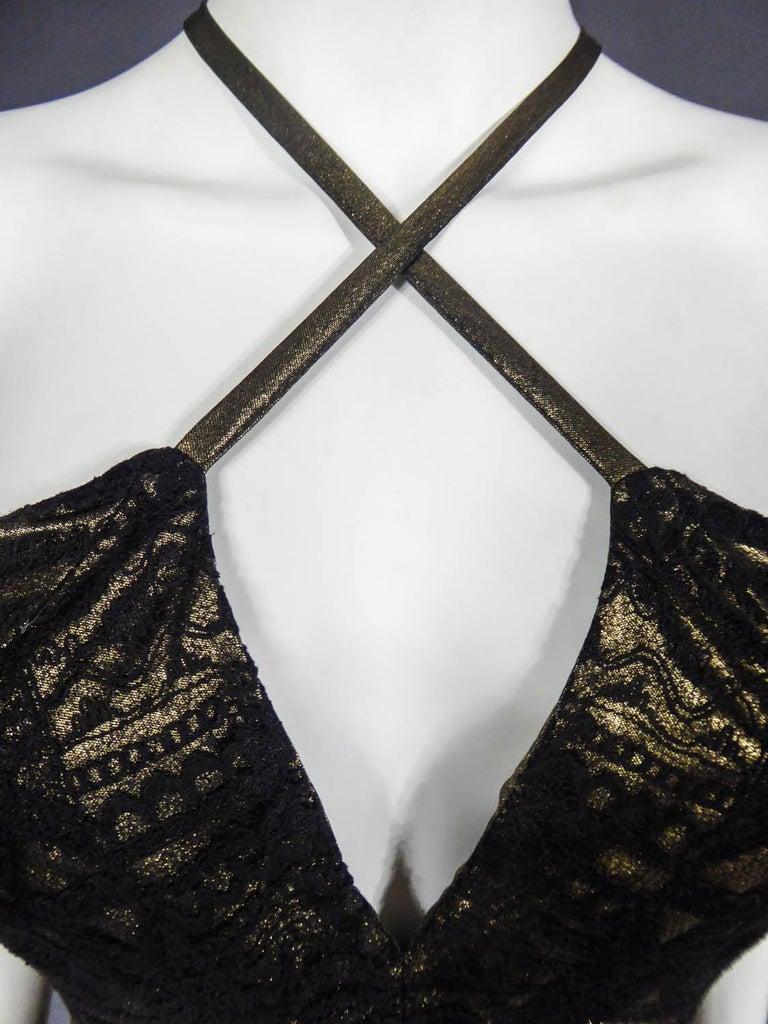 Christian Lacroix Haute Couture Golden Evening Gown, Circa 1995 For Sale 6