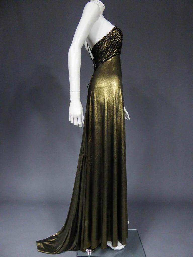 Christian Lacroix Haute Couture Golden Evening Gown, Circa 1995 For Sale 7