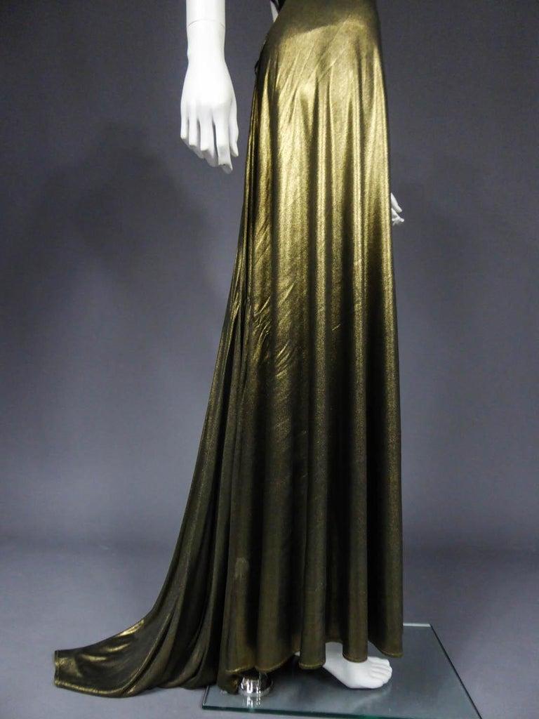 Christian Lacroix Haute Couture Golden Evening Gown, Circa 1995 For Sale 8