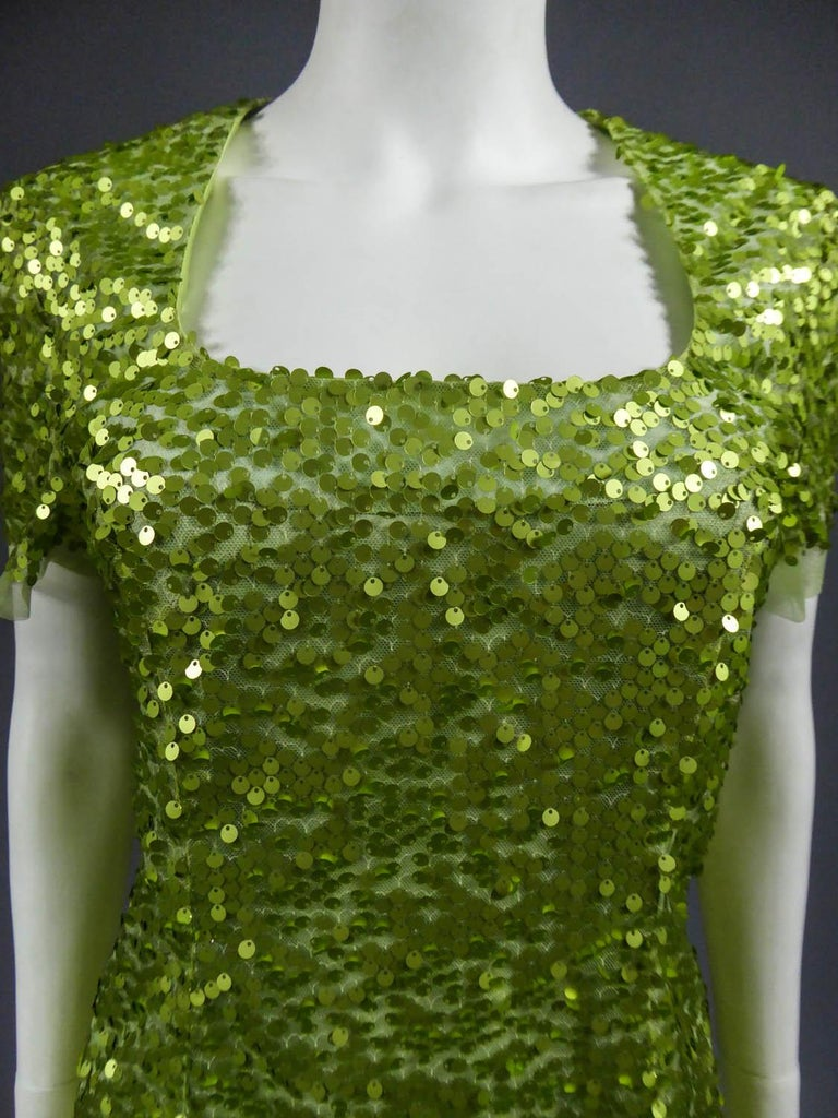Brown Glitter Dress, Circa 1990 For Sale