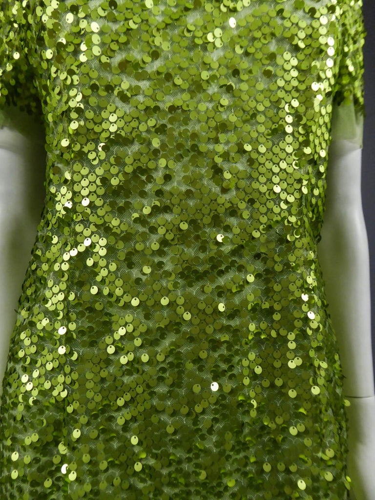 Glitter Dress, Circa 1990 In Excellent Condition For Sale In Toulon, FR