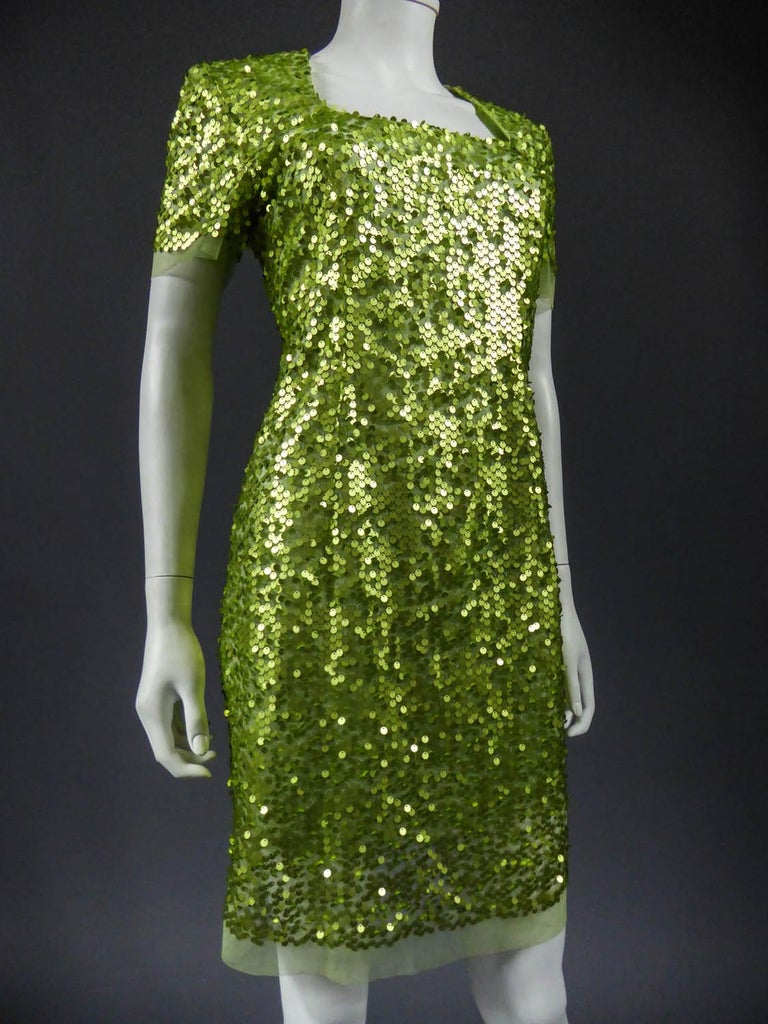 Glitter Dress, Circa 1990 For Sale 1