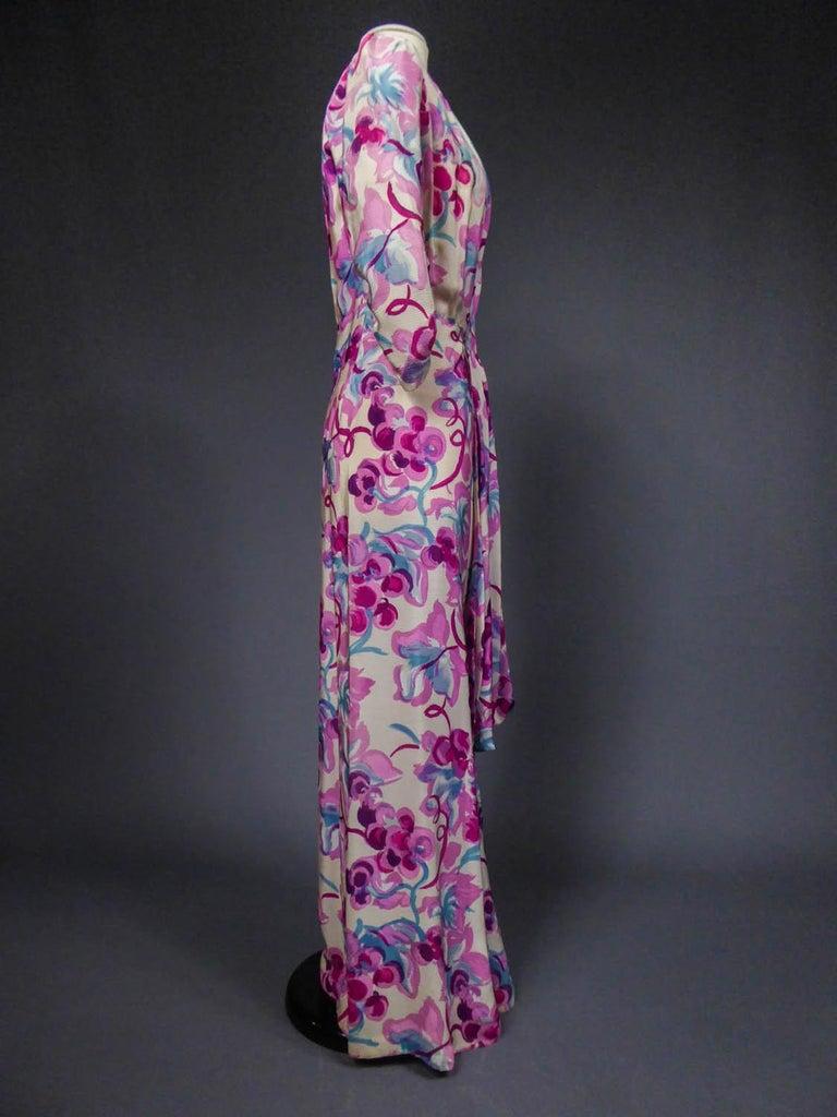 Long Dress Circa 1940 For Sale 4