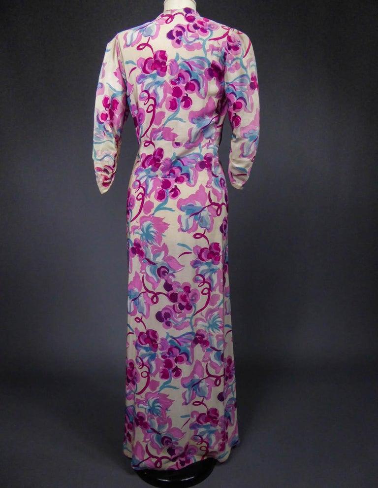 Long Dress Circa 1940 For Sale 6