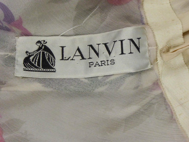 Brown Jeanne Lanvin Couture Dress, Circa 1985  For Sale