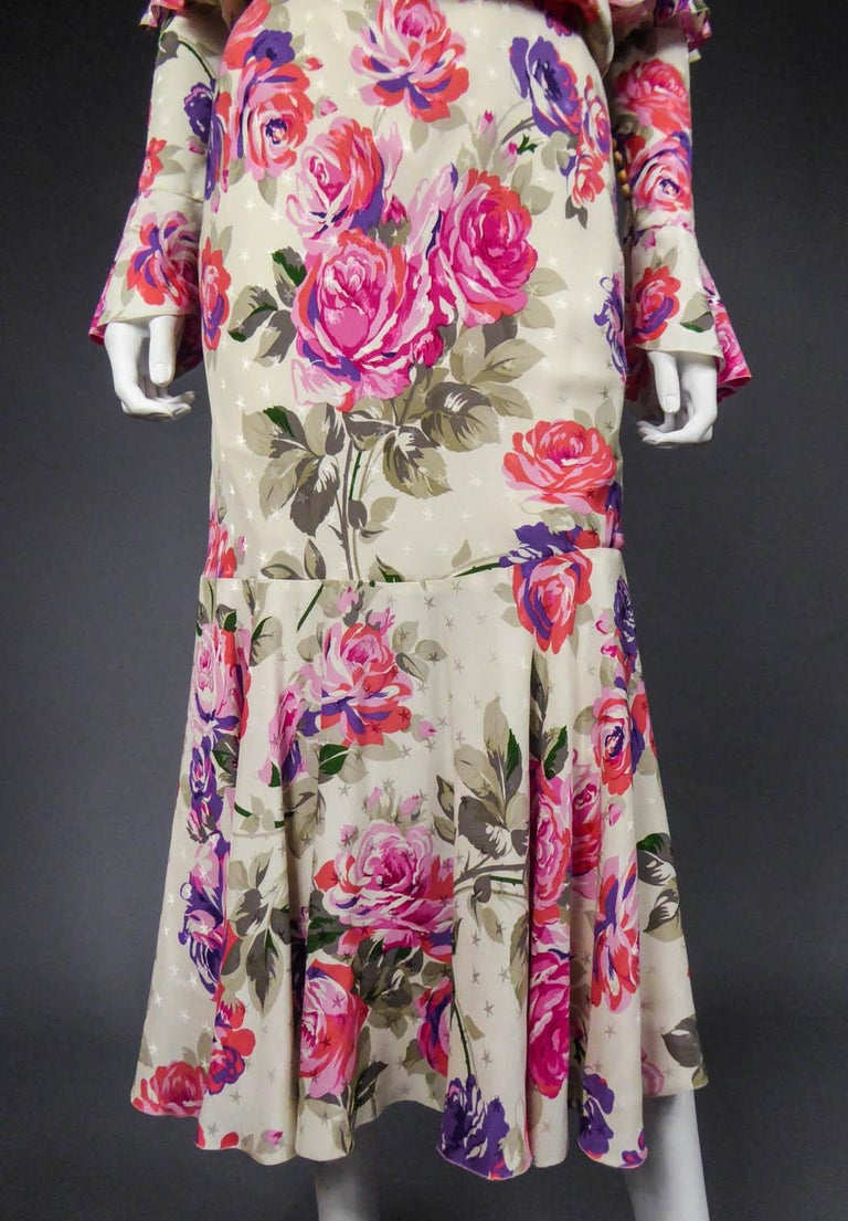 Women's Jeanne Lanvin Couture Dress, Circa 1985  For Sale