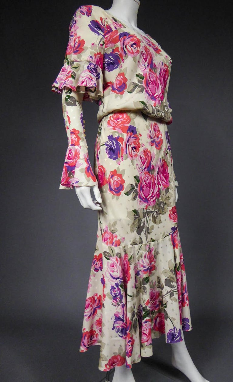 Jeanne Lanvin Couture Dress, Circa 1985  For Sale 2
