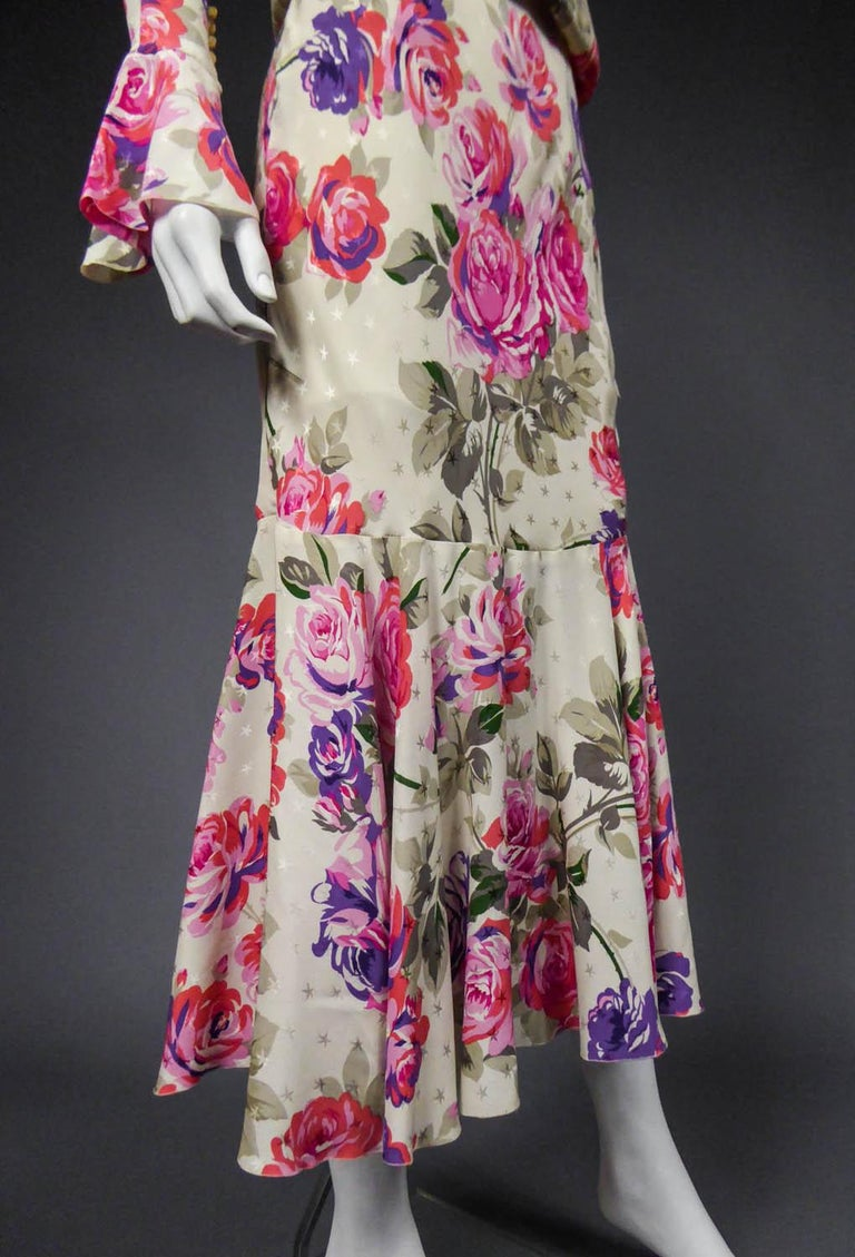 Jeanne Lanvin Couture Dress, Circa 1985  For Sale 4