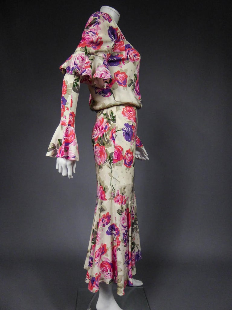 Jeanne Lanvin Couture Dress, Circa 1985  For Sale 5